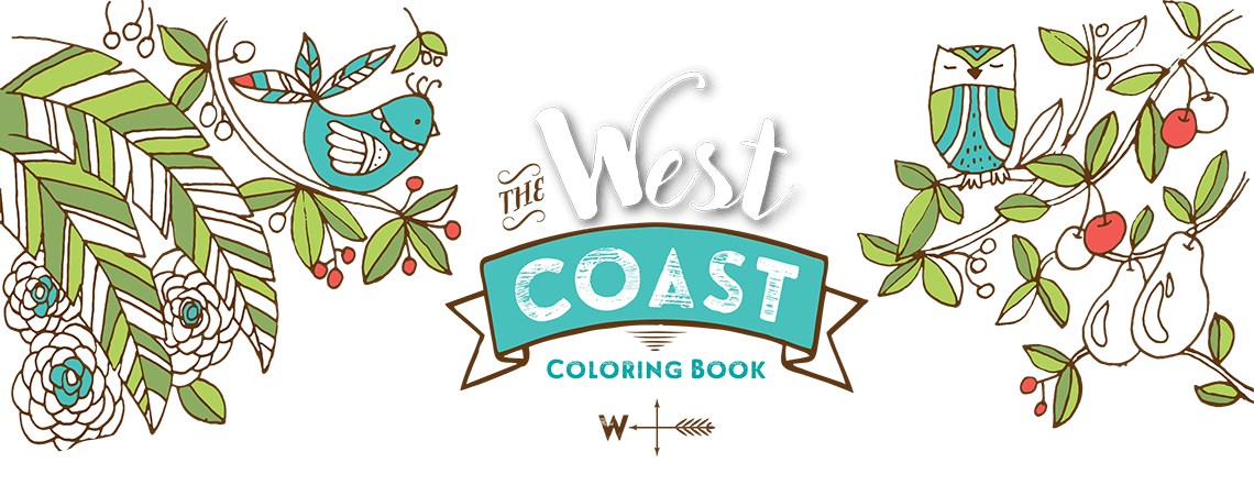 The West Coast Coloring Book Artistic Illustrations For From